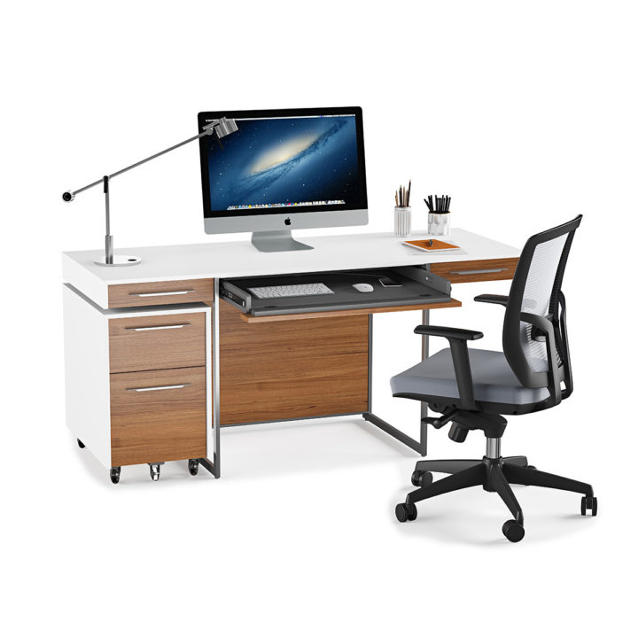 contemporary desks for home office. The Format Contemporary Desk By BDI With Mobile File Pedestal And Task Chair For Full Home Desks Office