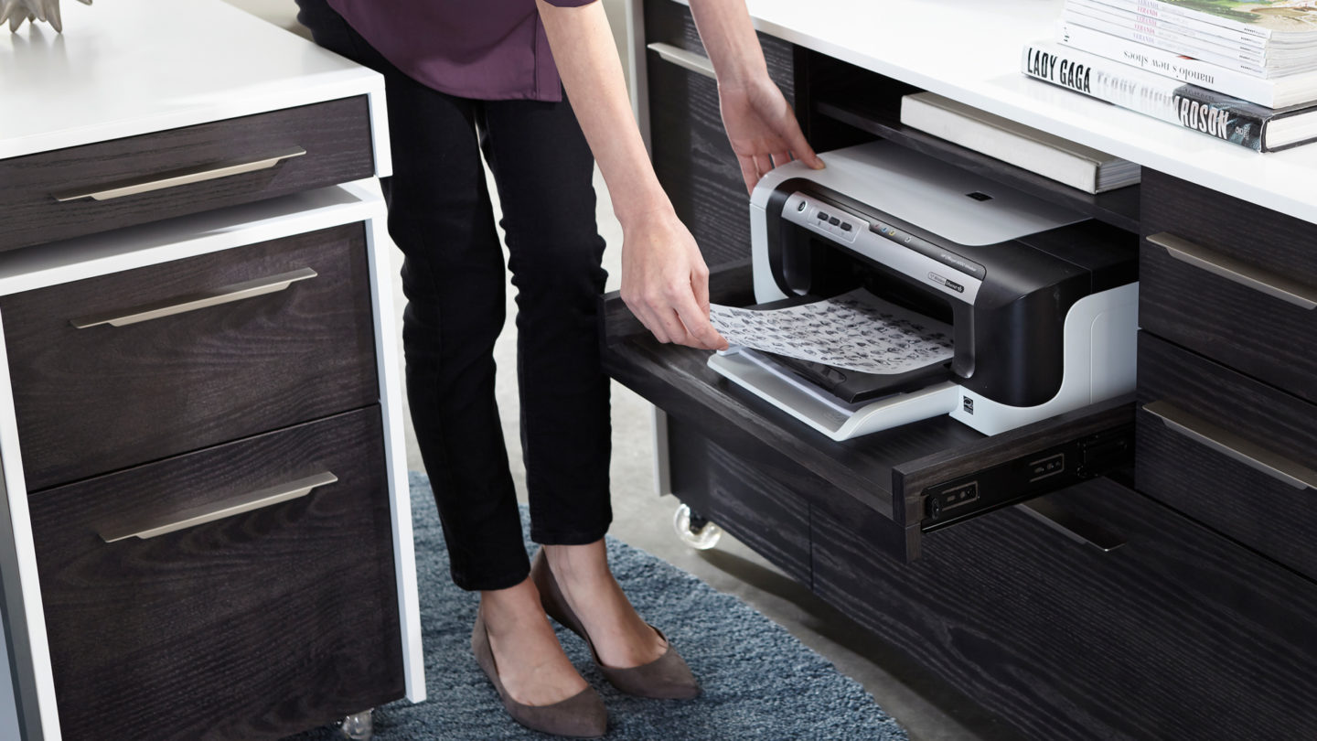 Pull Out Printer Tray