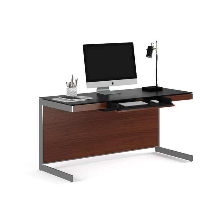 Gentil ... The Modern Sequel Desk By BDI In Chocolate With A Luxurious Work  Surface And Built  ...