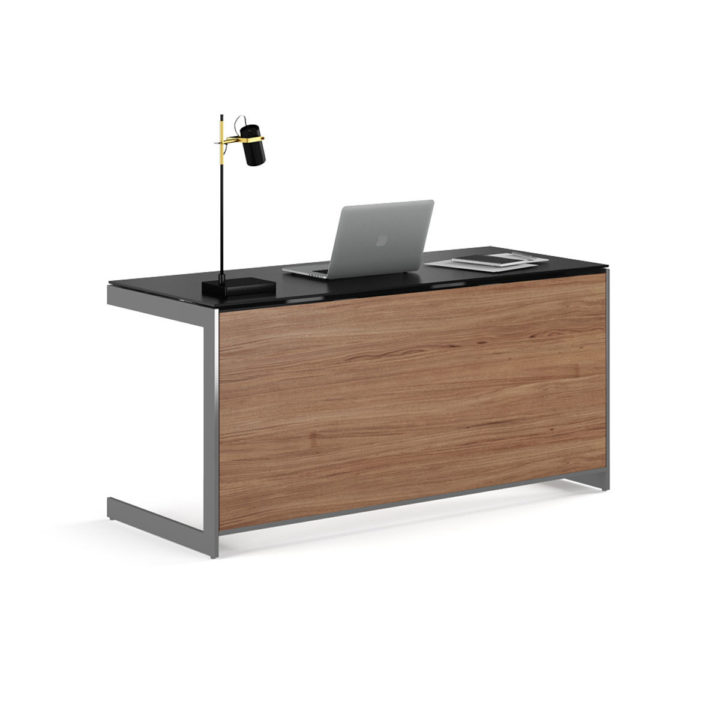 ... The Contemporary Sequel Desk By BDI In Walnut With A Luxurious Work  Surface And Built  ...