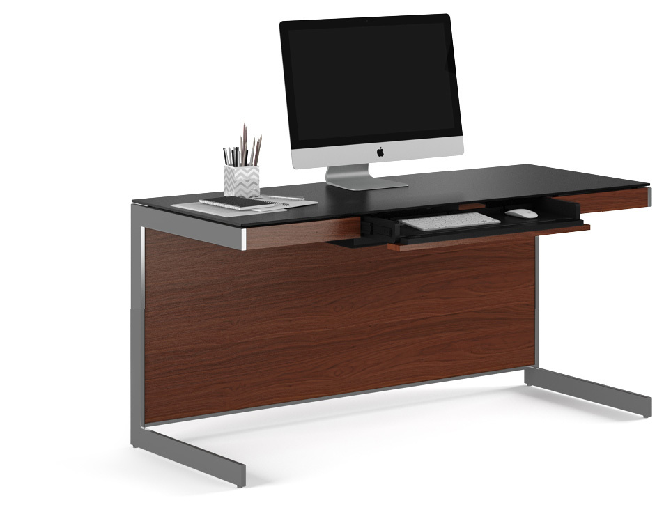 Incroyable The Cornerstone Of The Sequel Collection, Desk 6001 Provides A Luxurious  Work Surface, A Built In Keyboard Drawer And Intelligent Wire Management.