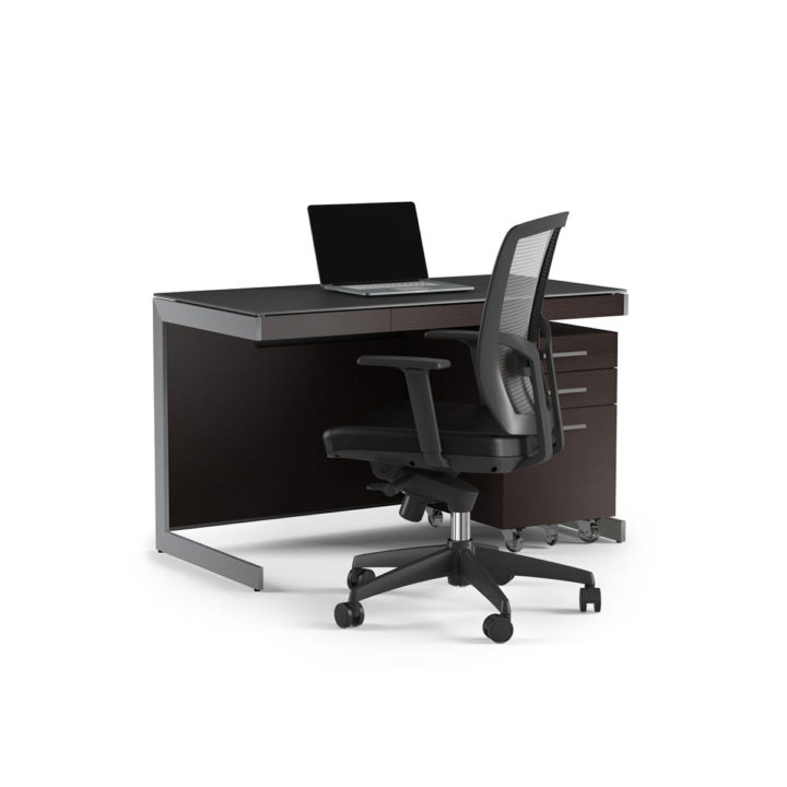 ... The BDI Sequel Compact Desk In Espresso Paired With Sequel Mobile File  Cabinet And Desk Chair ...