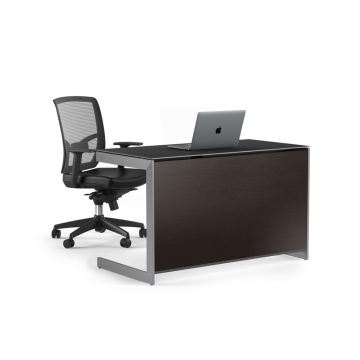 ... The BDI Sequel Compact Desk In Espresso With Optional Back Panel And Desk  Chair ...