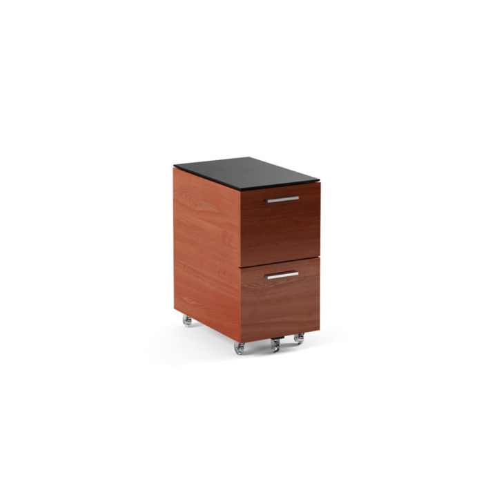 ... The Sequel Tall Mobile File Cabinet In Cherry By BDI With Locking  Wheels ...