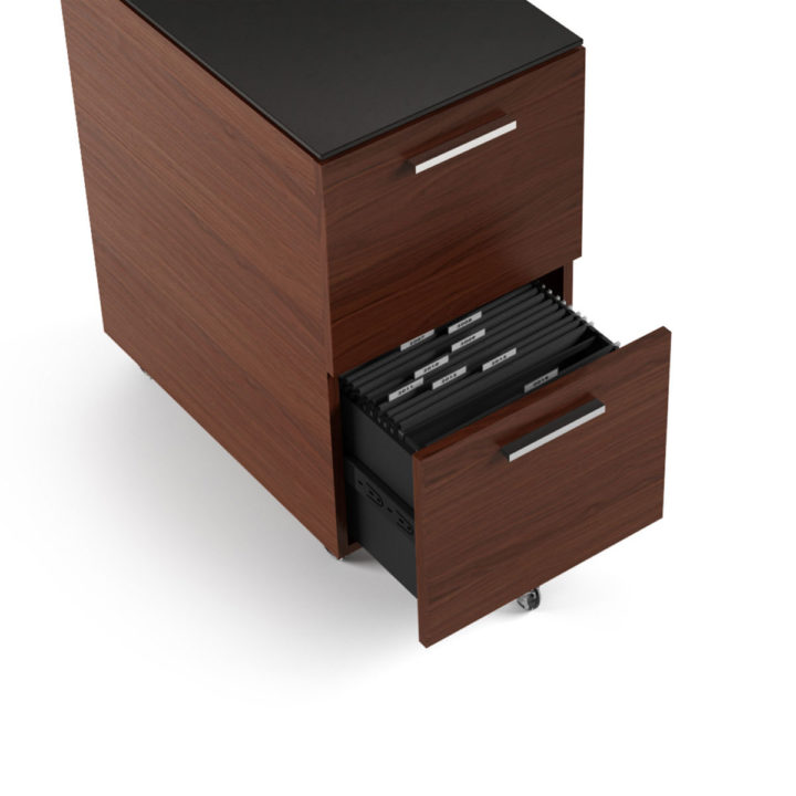 ... The Sequel Tall Mobile File Cabinet In Chocolate Walnut By BDI With  Ample File Storage ...