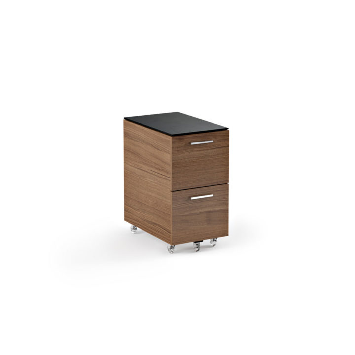 ... The Sequel Tall Mobile File Cabinet In Walnut By BDI With Locking  Wheels ...