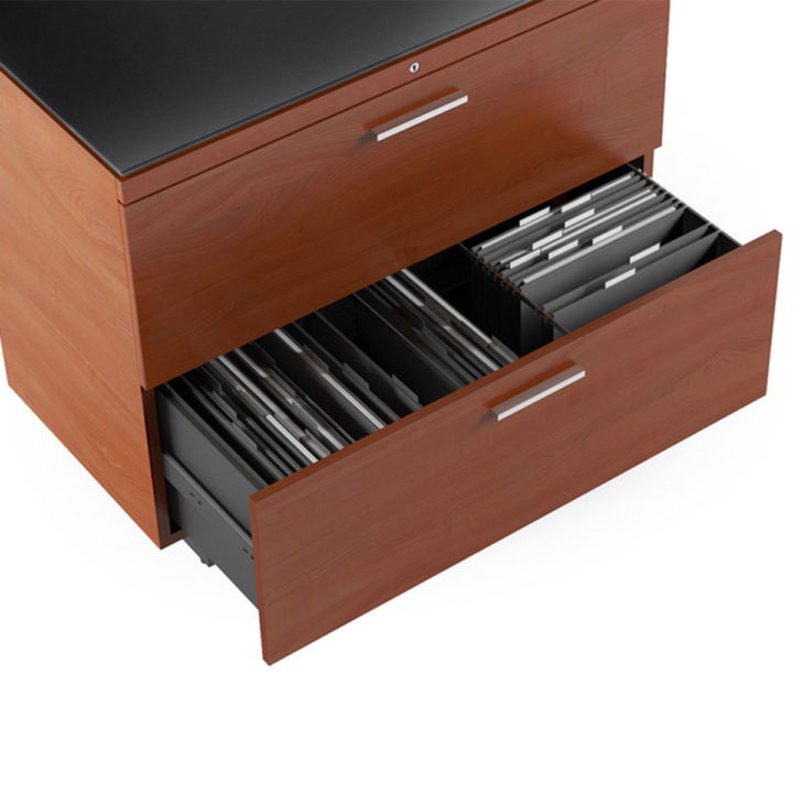 ... The Sequel Lateral File Cabinet In Cherry By BDI With Convenient File  Storage ...