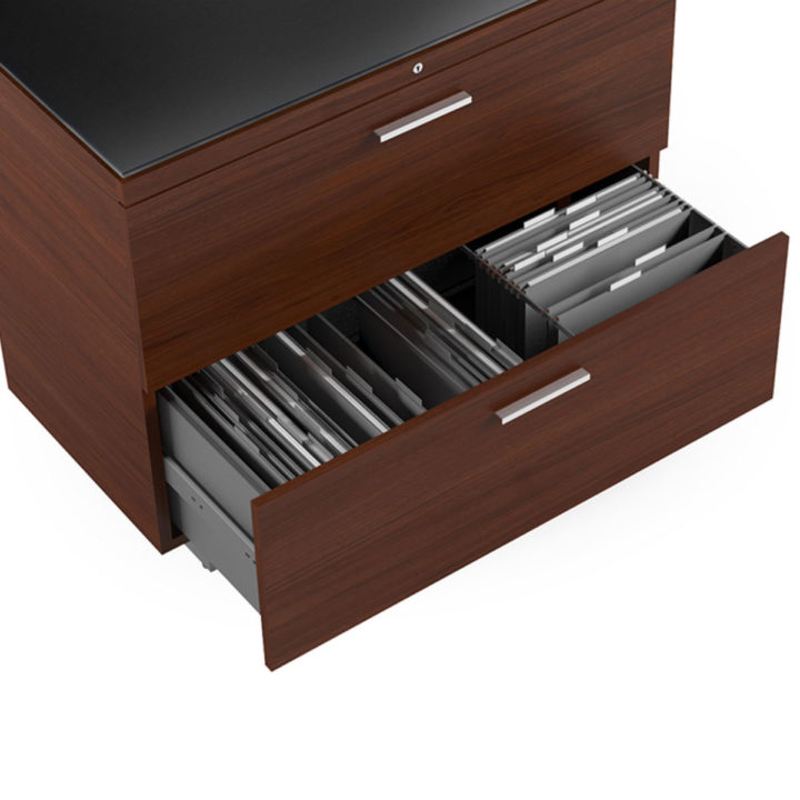 the sequel lateral file cabinet in chocolate walnut by bdi flexible file storage