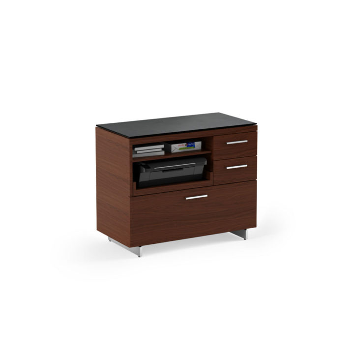 ... The Sequel Multifunction Cabinet By BDI In Chocolate Walnut Abundant  Storage Including Printer Shelf ...