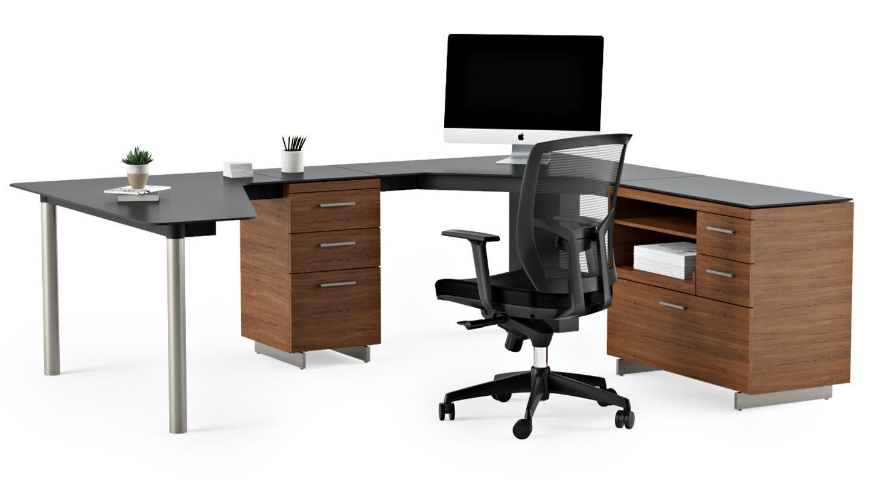 Peninsula desk office furniture - Create A Complete Office