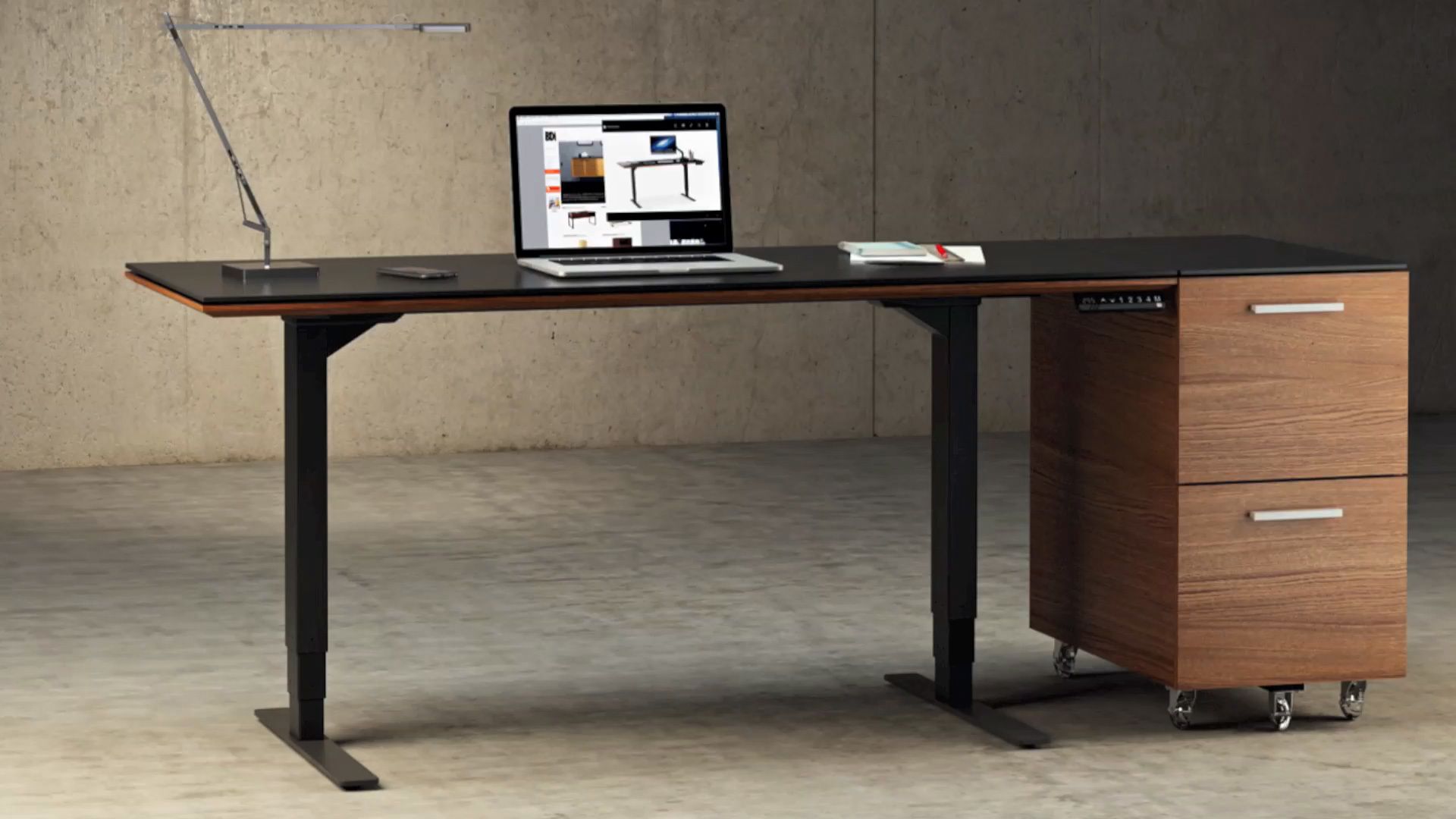 Sequel lift standing desk 66quotx30quot 6052 bdi furniture whether you are embracing the health benefits of a versatile desk or are just looking to create an impressive office full of user friendly features keyboard keysfo Images