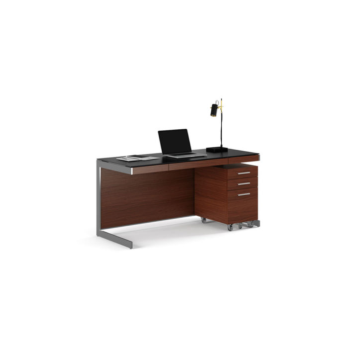 lift sequel set bdi stained cwl walnut chocolate desk adjustable
