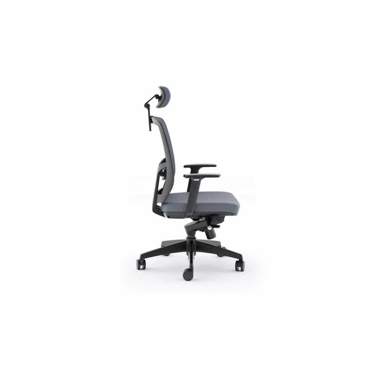 ... The Fully Adjustable Fabric Task Chair By BDI In Grey ...