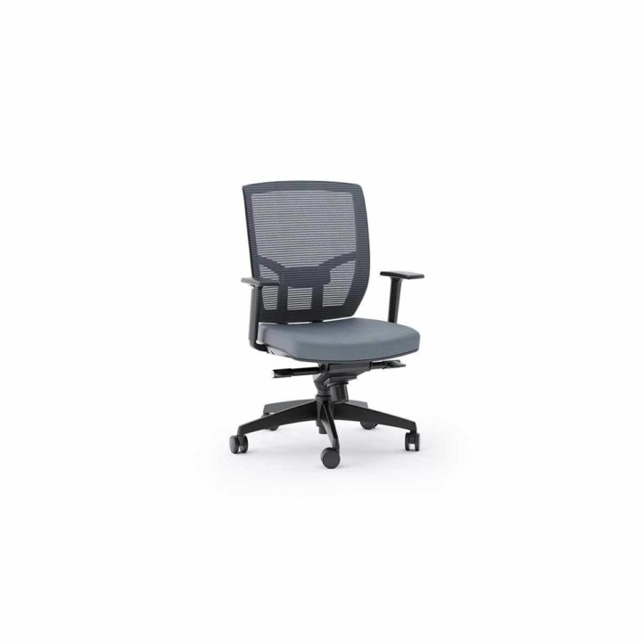 ... The Fully Adjustable Fabric Task Chair By BDI In Grey