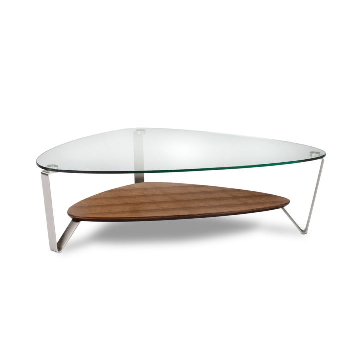 ... The Versatile BDI Dino Modern Coffee Table In Chocolate Walnut