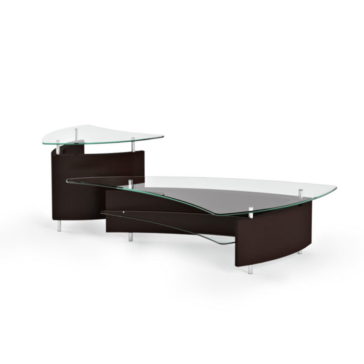 ... The Modern Fin Coffee Table In Espresso By BDI Paired With The Elegant  Fin End Table