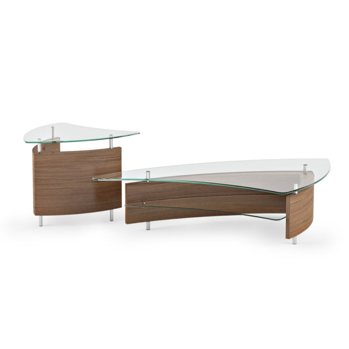 Beautiful ... The Fin Coffee Table In Walnut By BDI Paired With The Elegant Fin End  Table ...