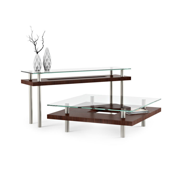 ... The Hokkaido Square Coffee Table By BDI In Chocolate Walnut Complements  The Hokkaido Console Table ...