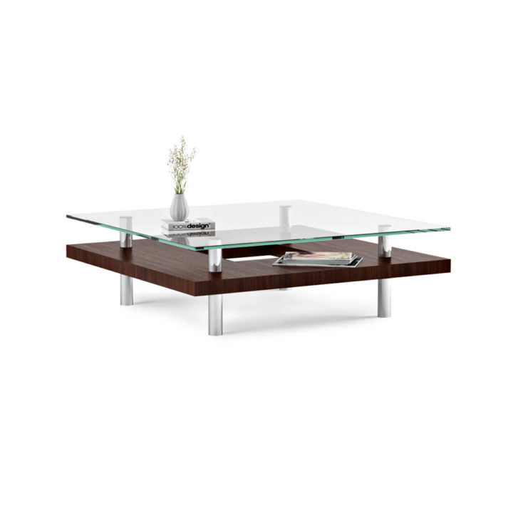... The Hokkaido Square Coffee Table By BDI In Chocolate Walnut Modern Coffee  Table With Rich Wood ...