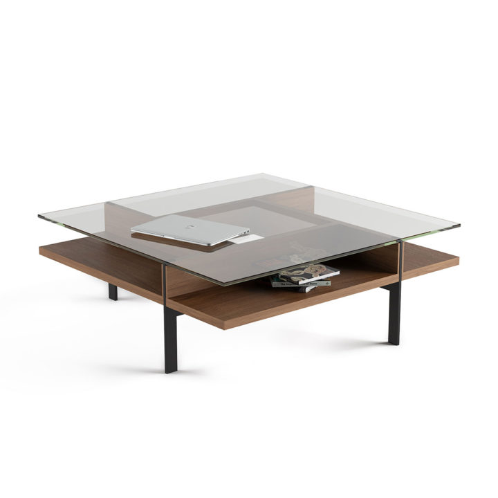 ... The Terrace Square Coffee Table By BDI In Walnut With Ample Storage ...