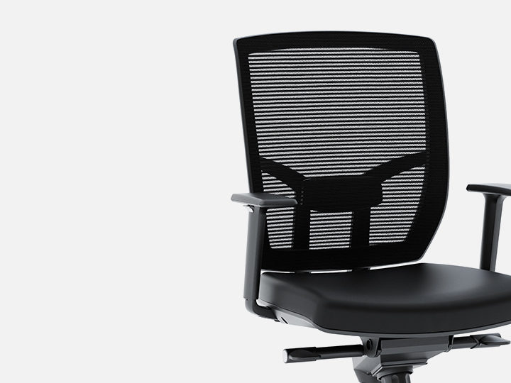 The BDI Fabric Task Chair in black for home office