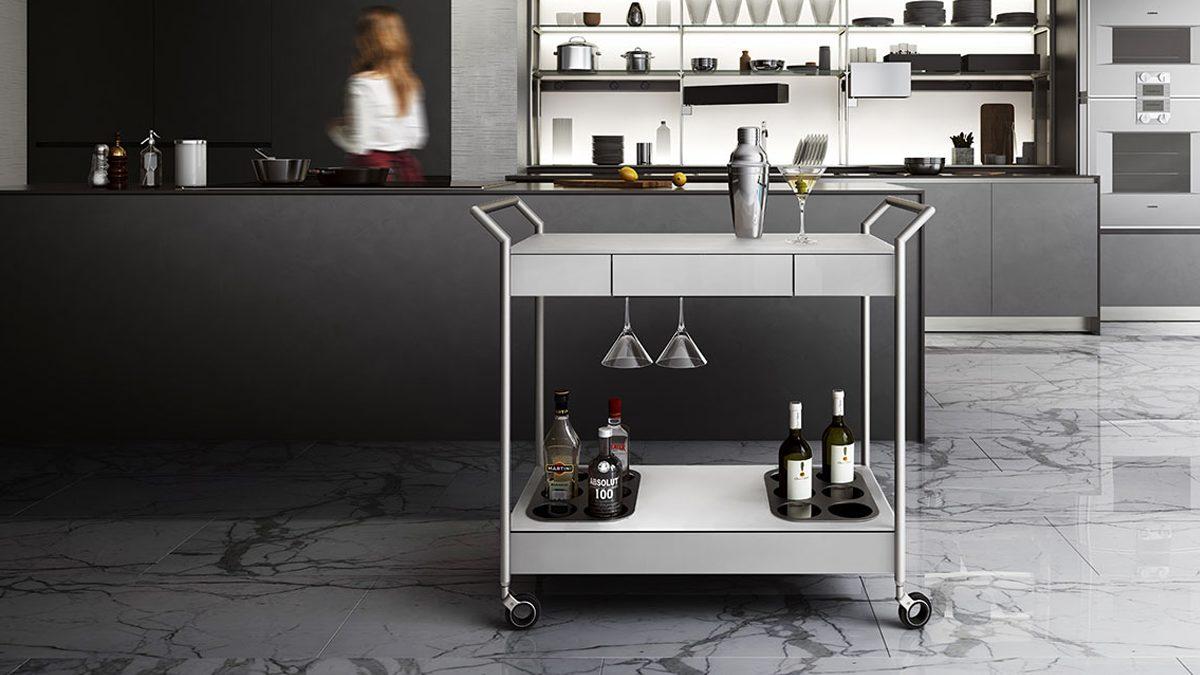 The Verra Collection by BDI versatile Mobile Bar Cart