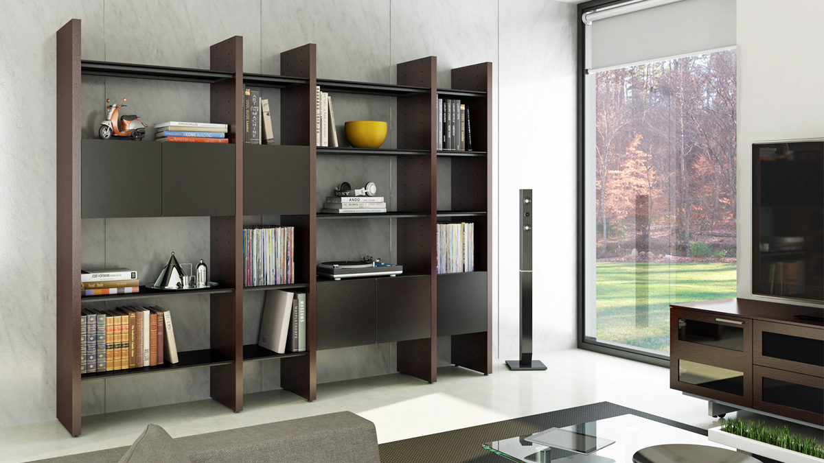 Modular storage furniture systems - The Semblance Collection By Bdi Versatile Customizable Storage System