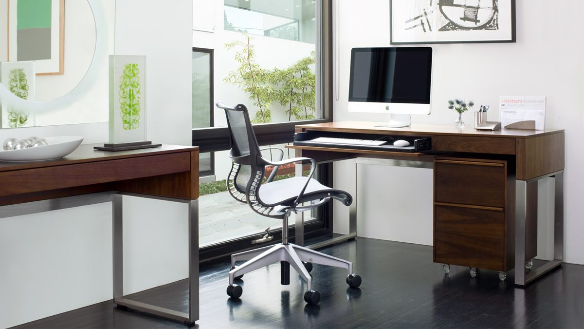 working  bdi - the cascadia office in chocolate walnut by bdi featuring console laptopdesk and mobile file cabinet