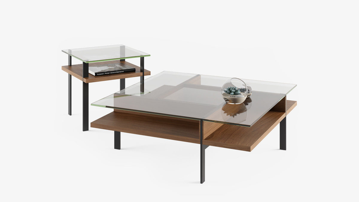 The BDI Terrace Table Collection modern elegant open storage tables