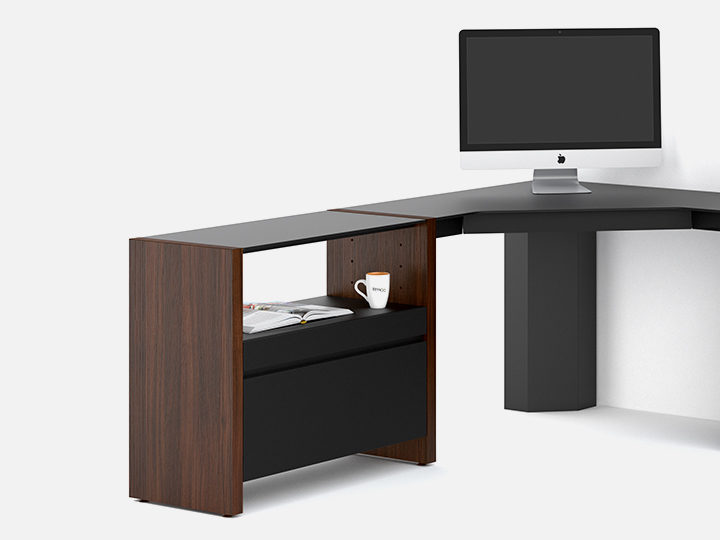 Exceptionnel Combine Inline And Peninsula Desk Components With Adjustable Shelves,  Cabinets, Or Other BDI Collections To Create A Compact Home Office Or  Expanded ...