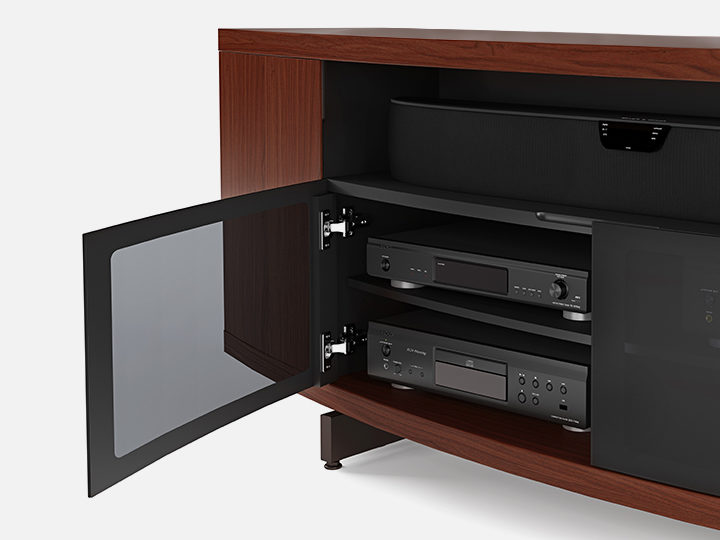 Style blends easily into functionality with innovative features designed to  protect  present  and adapt to your home theater system for years to come. Media Cabinets   BDI