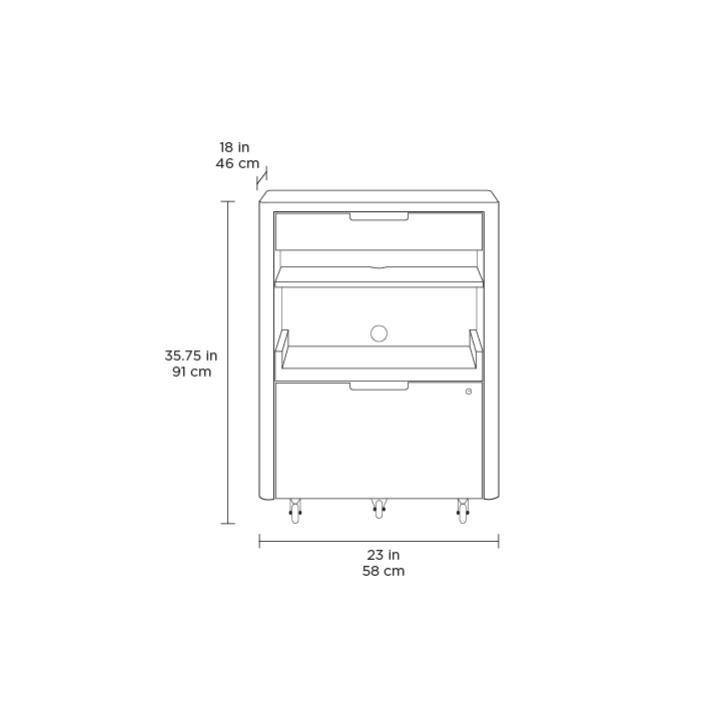 Kronos 6717 Multifunction Cabinet Bdi Furniture