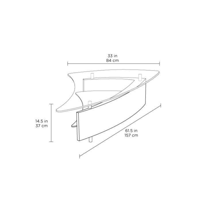Radius Taupe Square Modern Coffee Table By Bdi: Fin 1106 Coffee Table