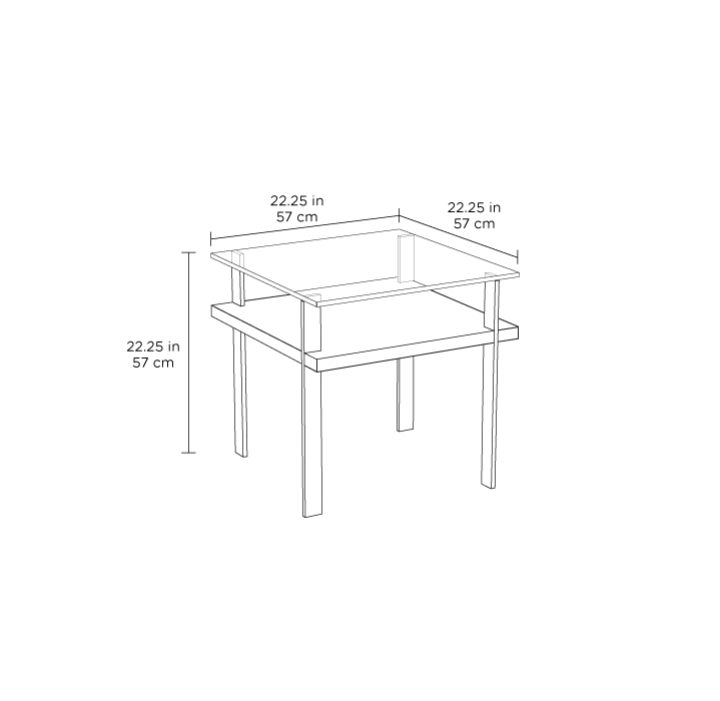 Radius Taupe Square Modern Coffee Table By Bdi: Terrace End Table 1156