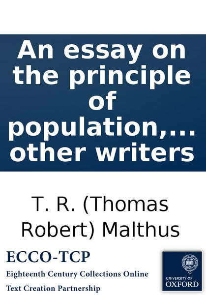malthus an essay on the principle of population review