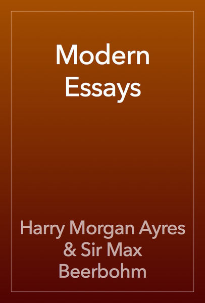 essays modernity