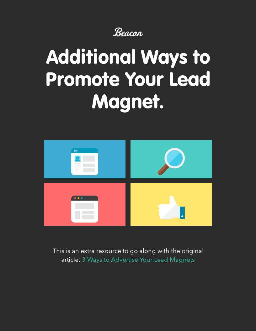 Additional Ways to Promote Your Lead Magnet