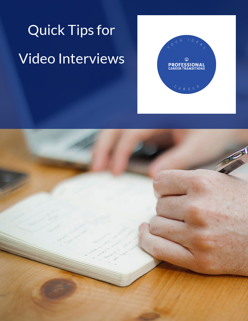 Quick Tips for Video Interviews