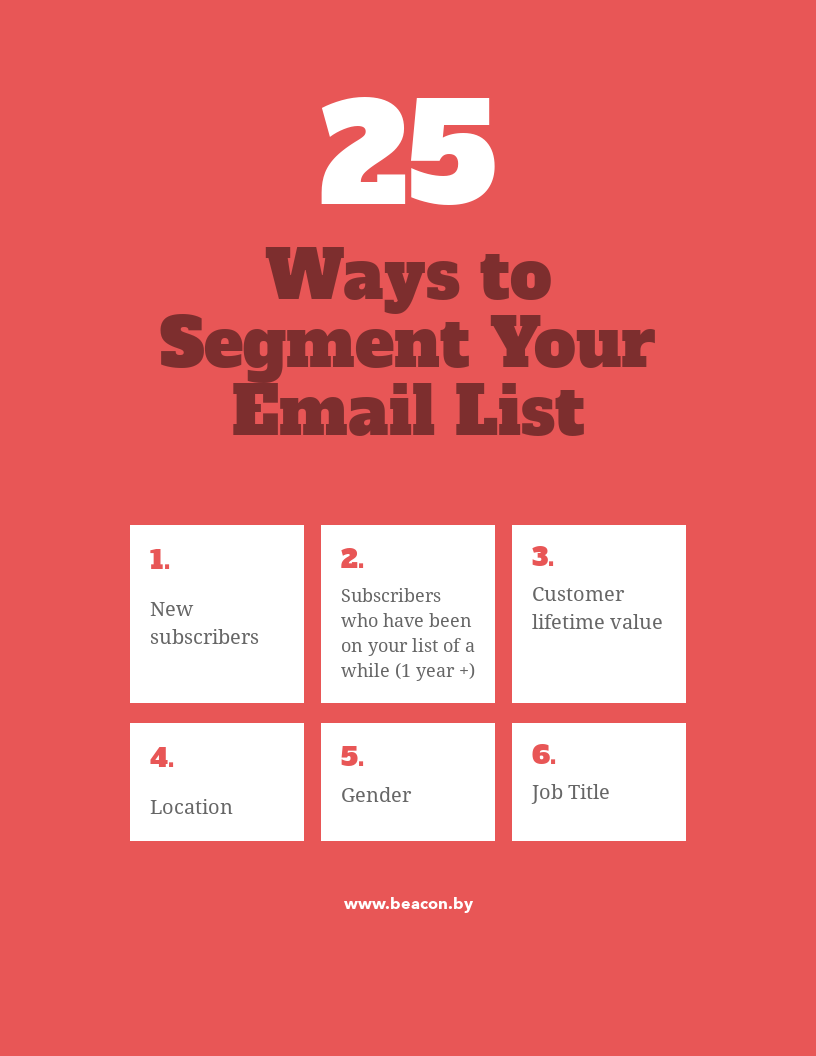 25 Ways to Segment Your Email List