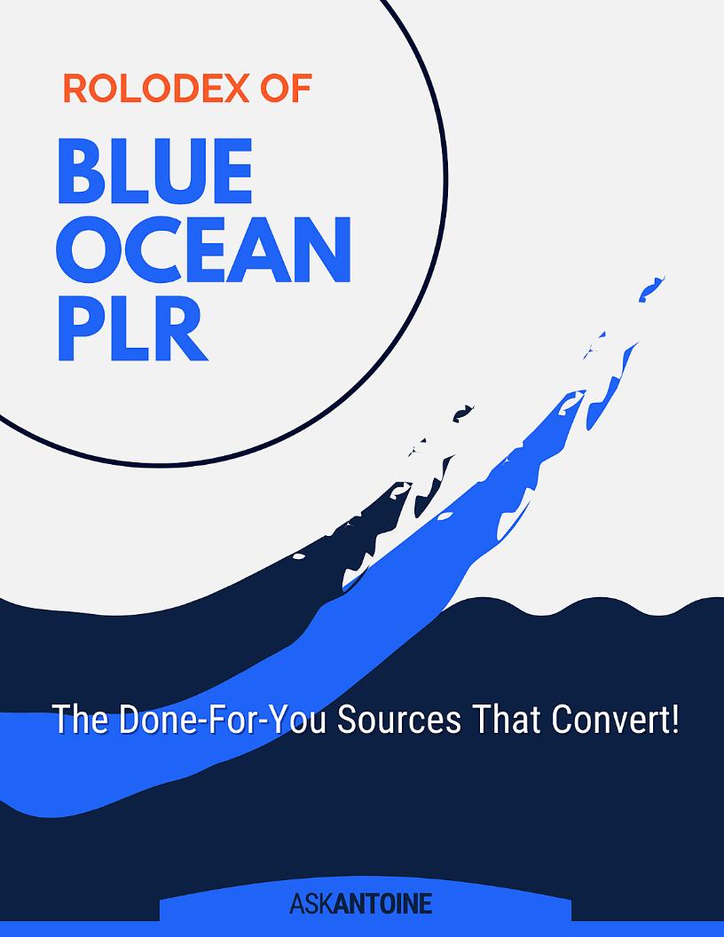 Blue Ocean PLR