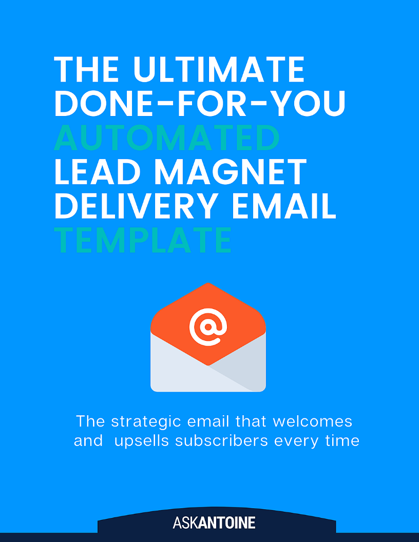 THE ULTIMATE lead magnet delivery email Template