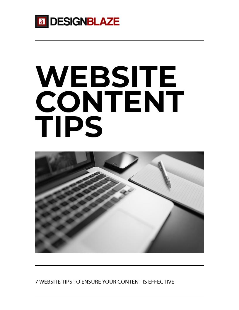 Website Content Tips