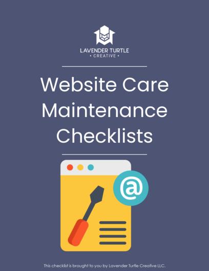Site Care Maintenance Checklist