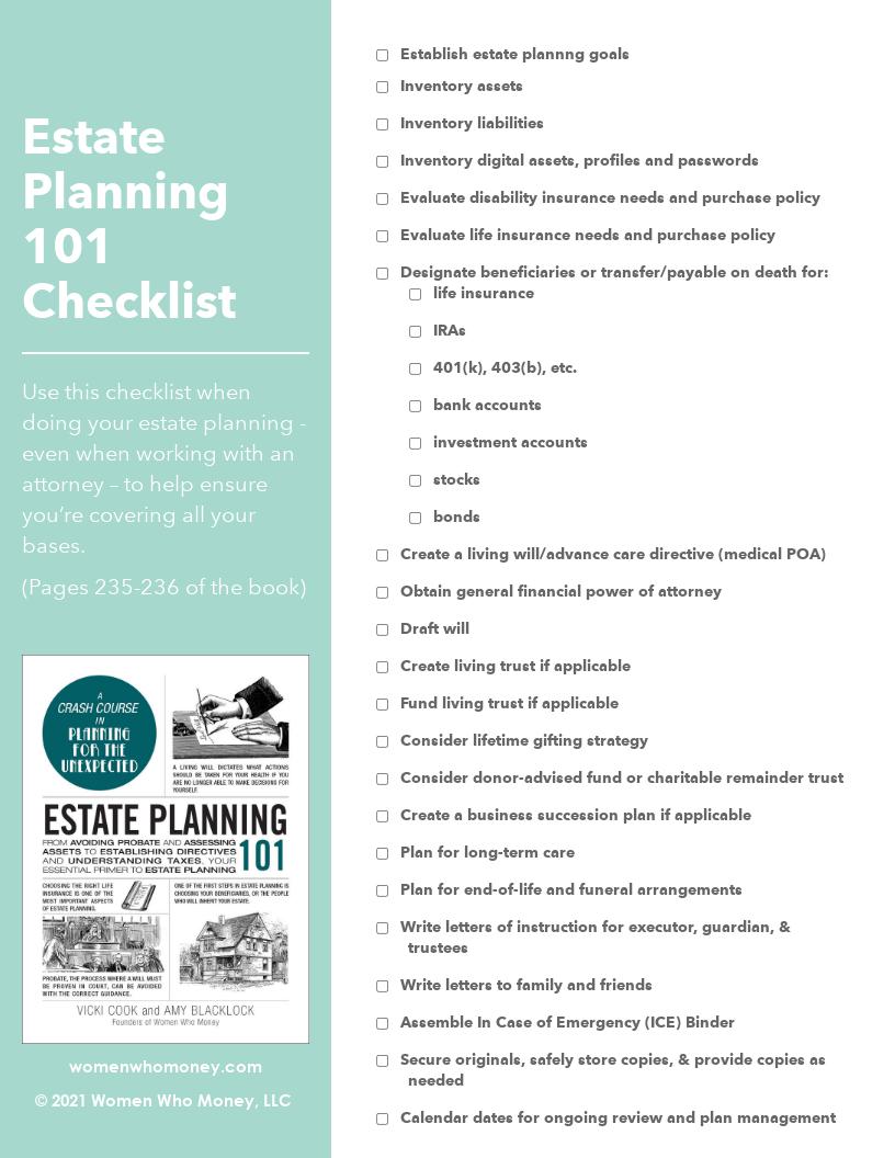 Resource - Estate Planning 101 Checklist