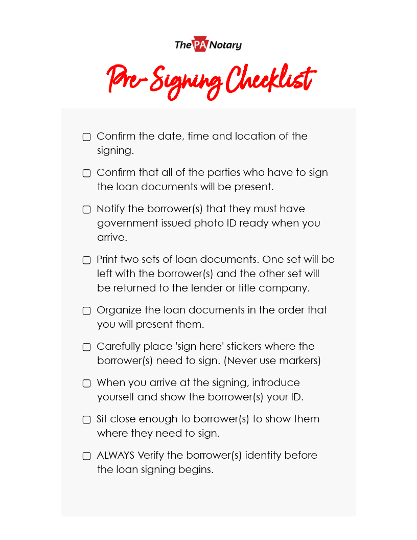 Become a certified notary signing agent   The PA Notary