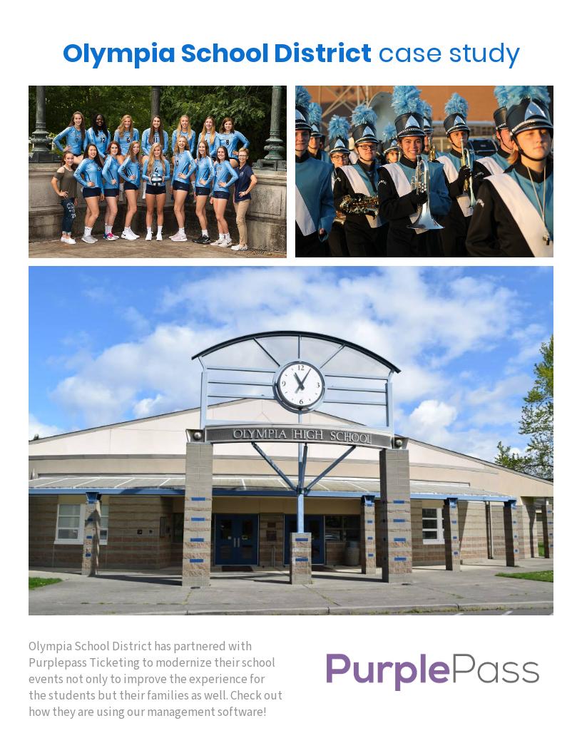 Olympia School District Calendar.Purplepass Ticketing Olympia School District Case Study