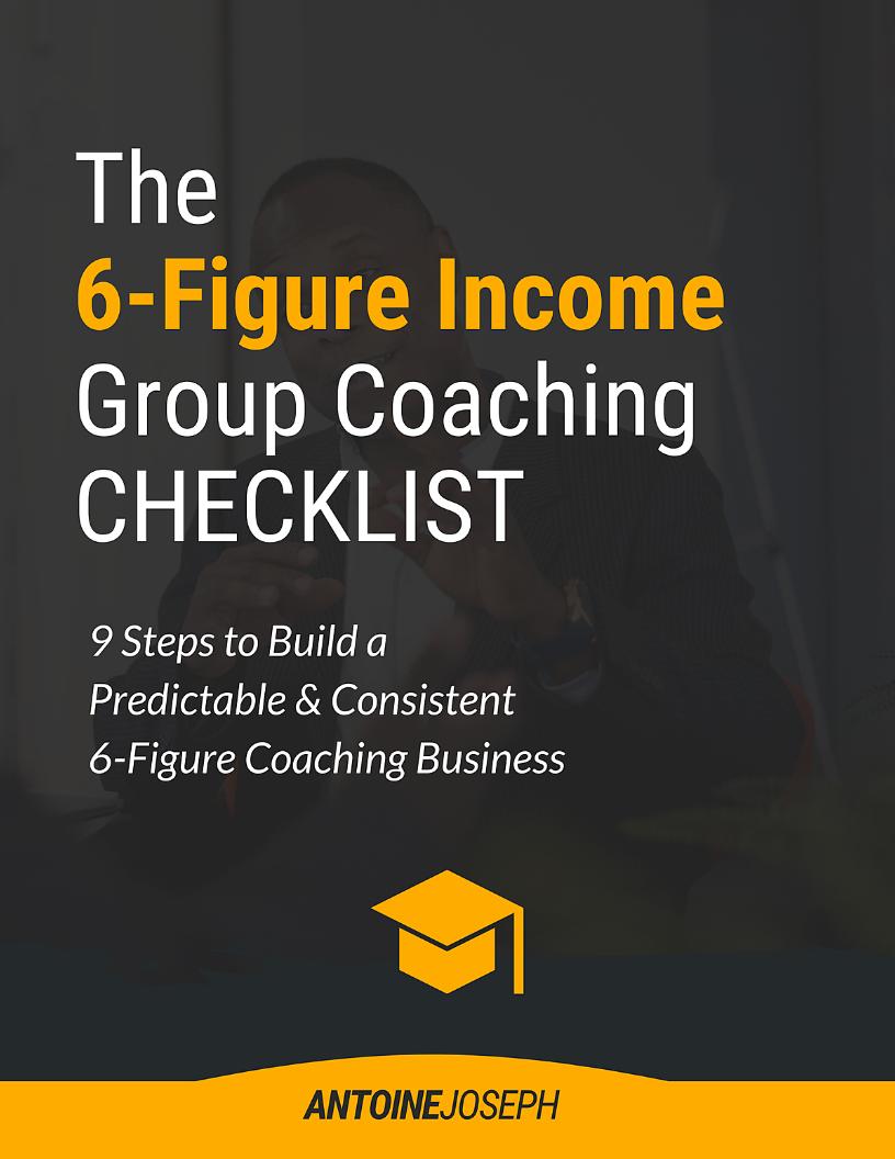6 Figure Income Coaching Checklist