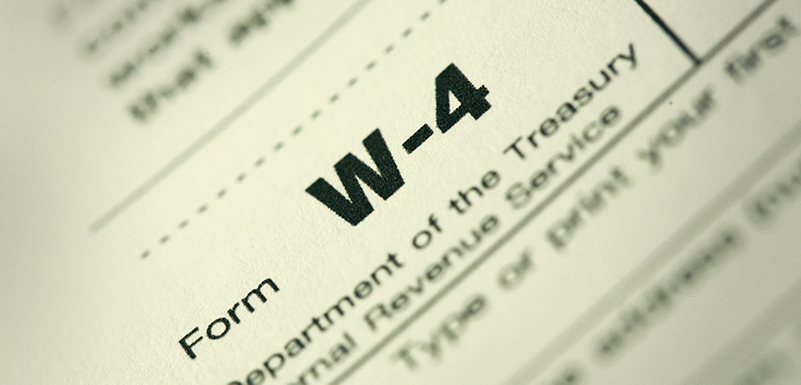 Draft of 2020 IRS Form W-4