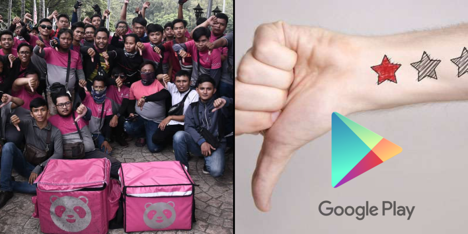 Foodpanda's app ratings have dropped from 4* stars to 1* star due to angry users. | BEAMSTART News
