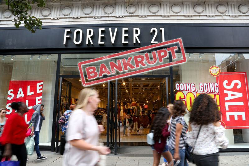 Forever 21 files for Bankruptcy; to close all stores in Asia.